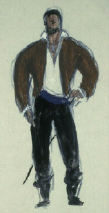 Costume study by Welles