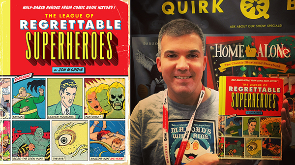 Quirk publisher Jason Rekulak with Jon Morris's quirky book.