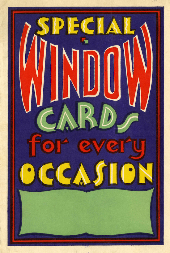 special window cards