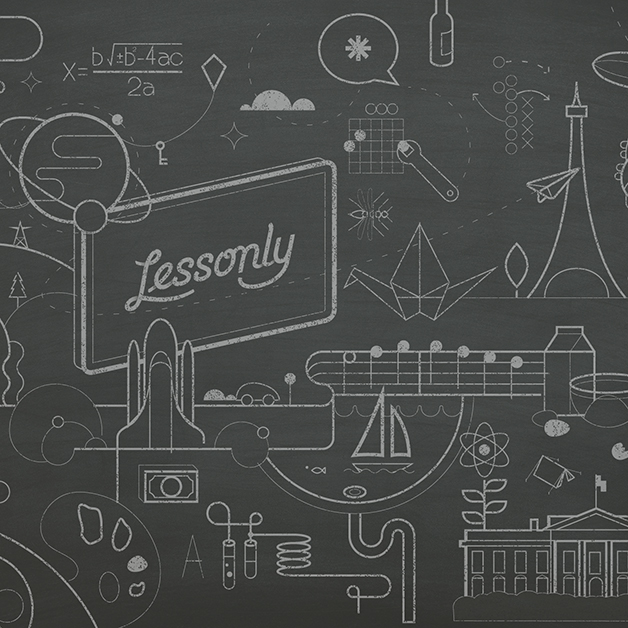 Work for Lessonly, by Studio Science, founded by Kristian Andersen