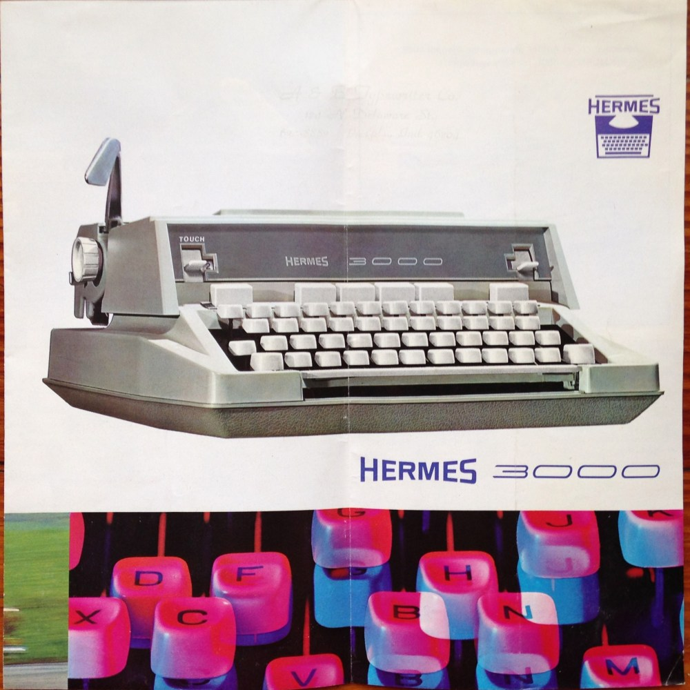 Figure 6 - Ca. 1970's model Hermes 3000 manual in full-color reproduction, front.
