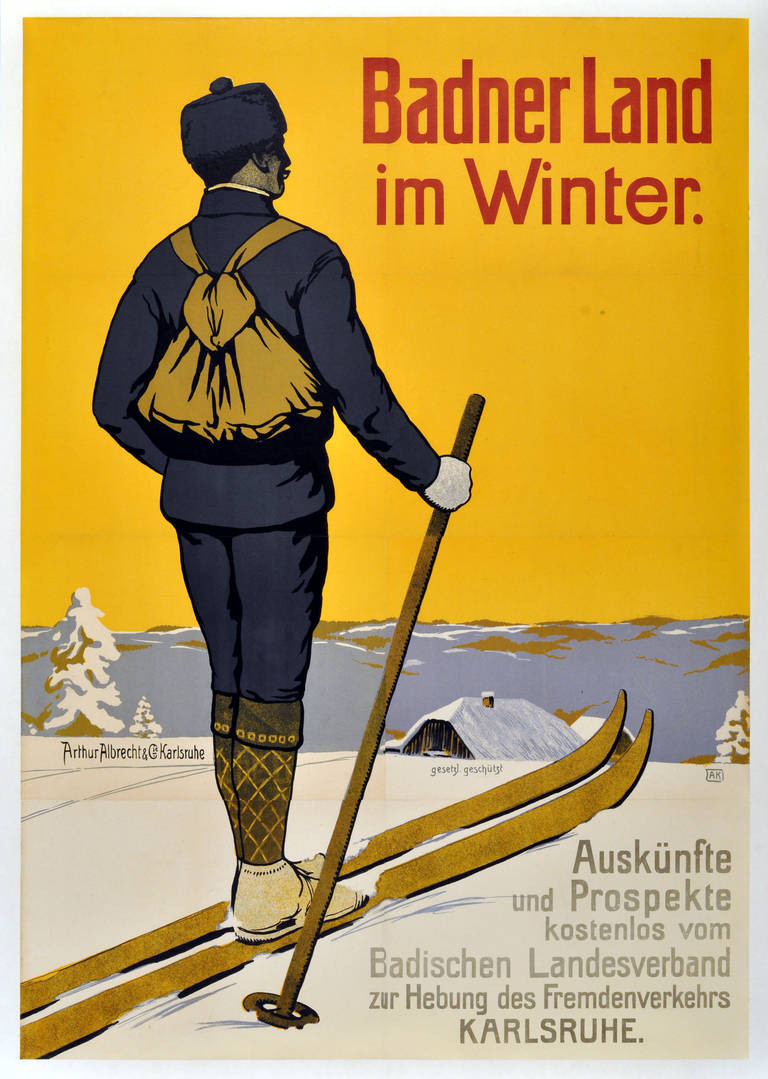 Group3_rare-early-original-vintage-skiing-poster-promoting-winter-in-baden-germany-1900s
