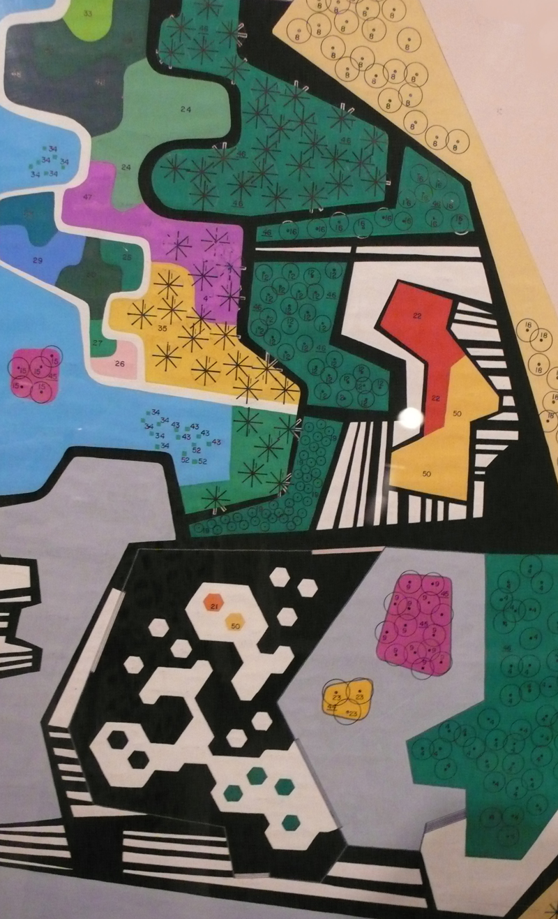 Detail of the plan for the garden of the Ministry of the Army, Brasília