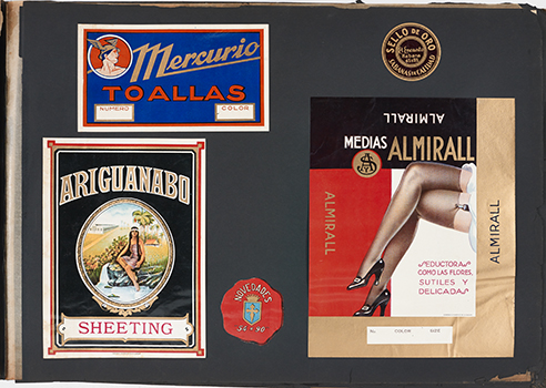 Label samples, Almirall stockings, Mercurio towels, and Ariguanabo sheeting