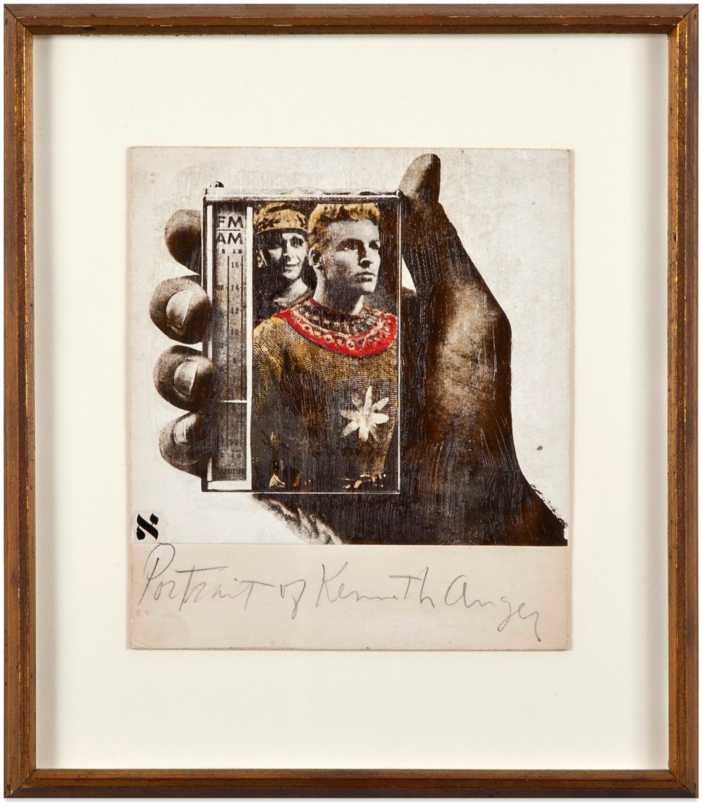 Wallace Berman: Untitled (Portrait of Kenneth Anger), 1973.