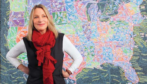 Thumbnail for Chaotic Maps & Liquid Identity: Straight Talk from Paula Scher
