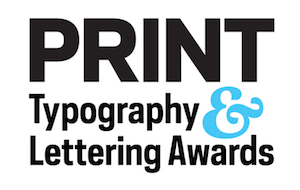 typography lettering awards print