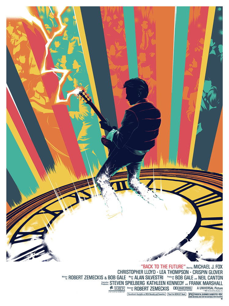 'Back to the Future' by Matt Taylor for Mondo