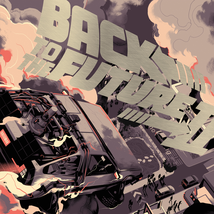 'Back to the Future II' by Matt Taylor for Mondo