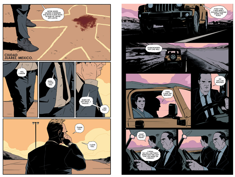 Matt Taylor illustrated pages from Image Comics' 'Zero' by Ales Kot