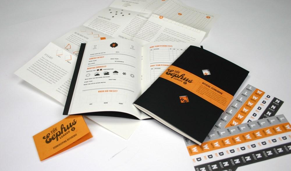 Eephus League scorebook, created and designed by Bethany Heck