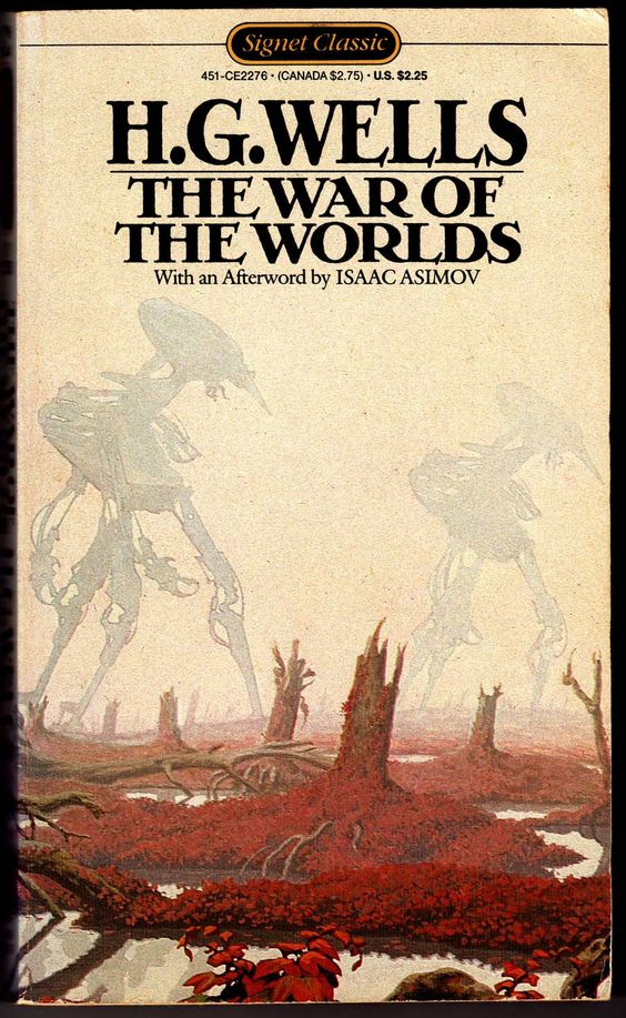 H. G. Wells Vintage Sci-Fi Book Covers