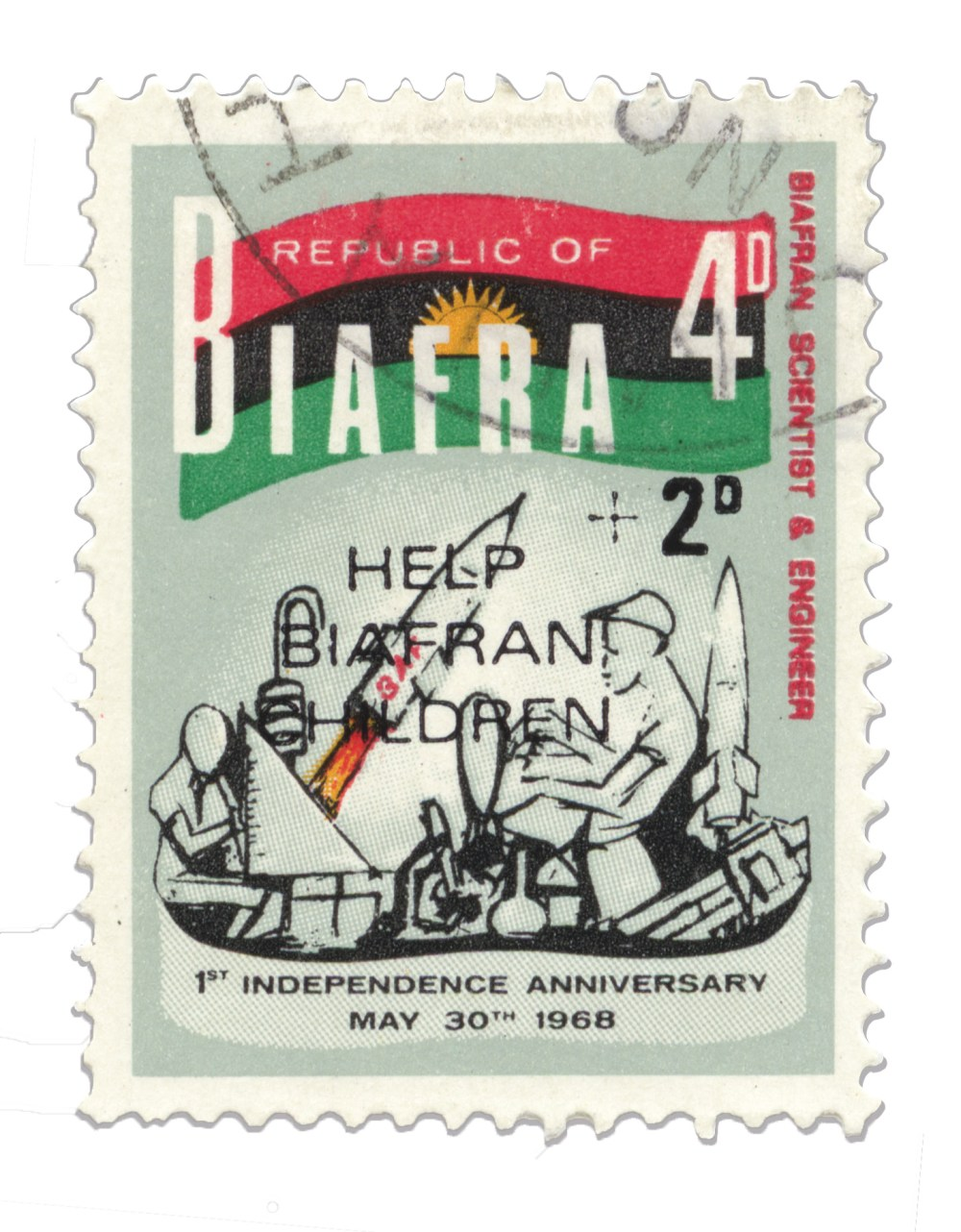 forgotten nations and their postage stamp design - biafra