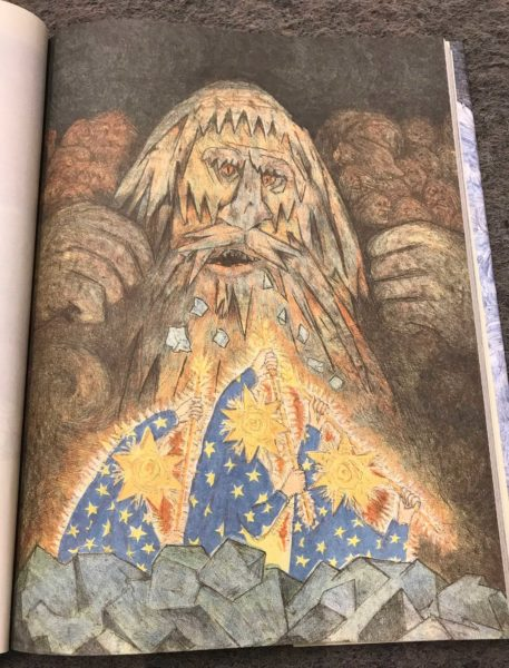 Interior illustration from d'Aulaires' Book of Norse Myths by NYRB