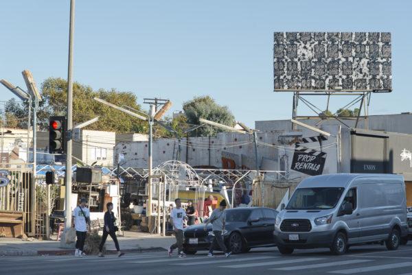Artist Rashid Johnson's work in Los Angeles, California. Courtesy Cultural Counsel.