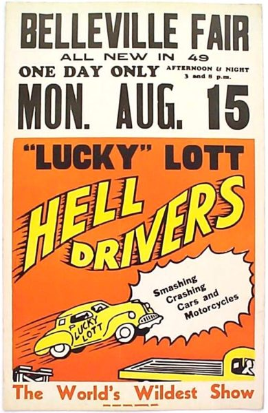 hell drivers poster card