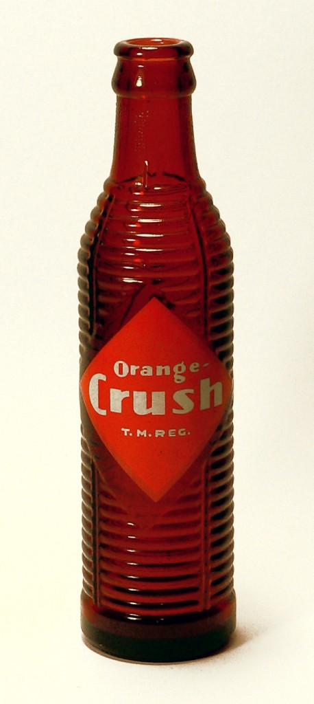 The vintage Crush bottle was originally brown t o protect flavor.