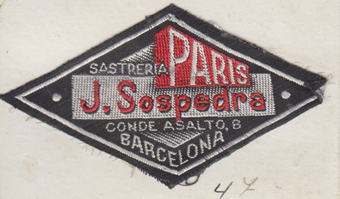 Vintage clothing labels are hidden in clothes.