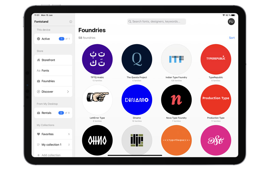 Thumbnail for Fontstand Brings Top-Shelf Typefaces to the iPad