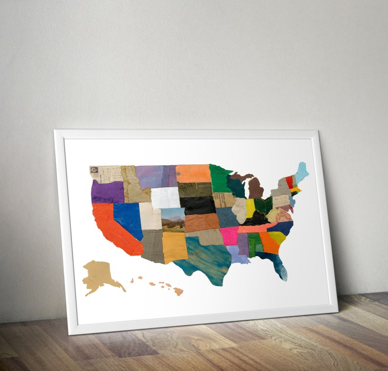 Thumbnail for Charlotte Strick's United States of Cartographic Collage