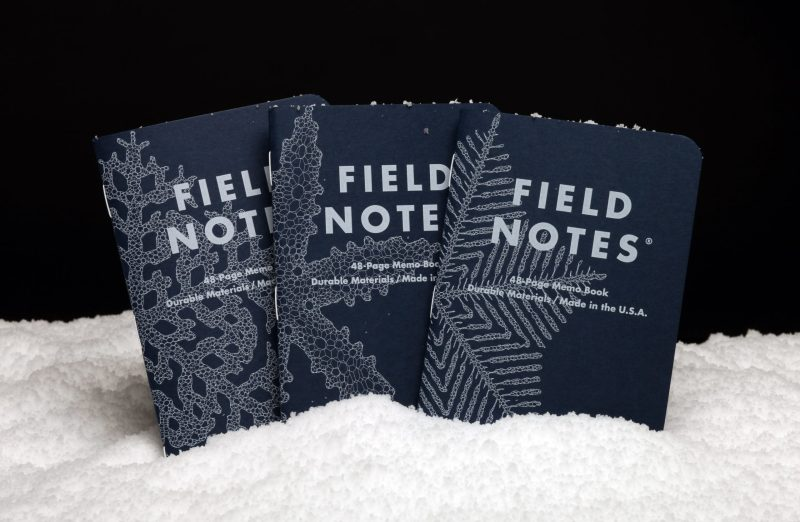 """Thumbnail for Gifts for Designers: Field Notes' 99,999 Unique """"Snowy Evening"""" Covers"""