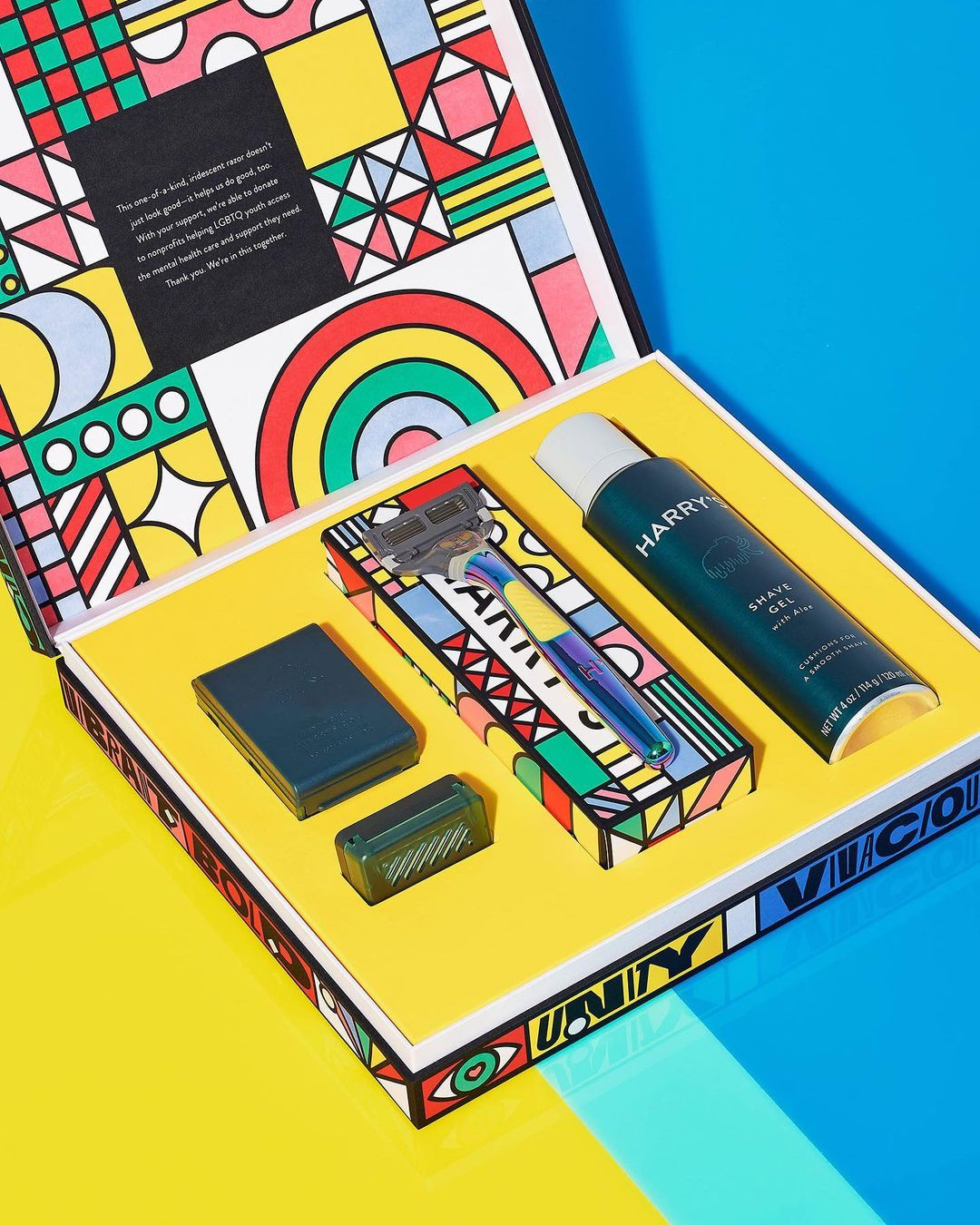 Thumbnail for Harry's Limited-Edition Pride Set Designed By Zipeng Zhu Will Turn Your Shave Into A Rave