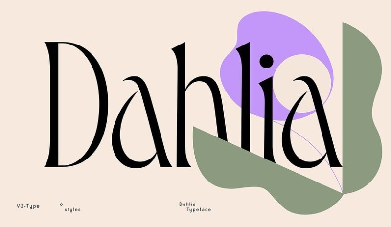 Thumbnail for Type Tuesday: Dahlia is Romantic to the Core