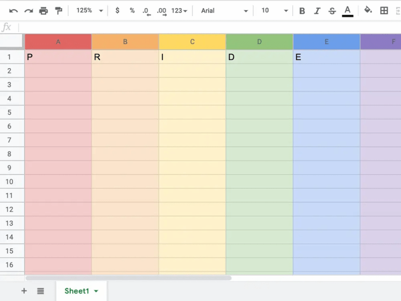 """Thumbnail for Google Sheets' Easter Egg Will Make Your Spreadsheets A Rainbow As Quickly As You Can Spell """"Pride"""""""