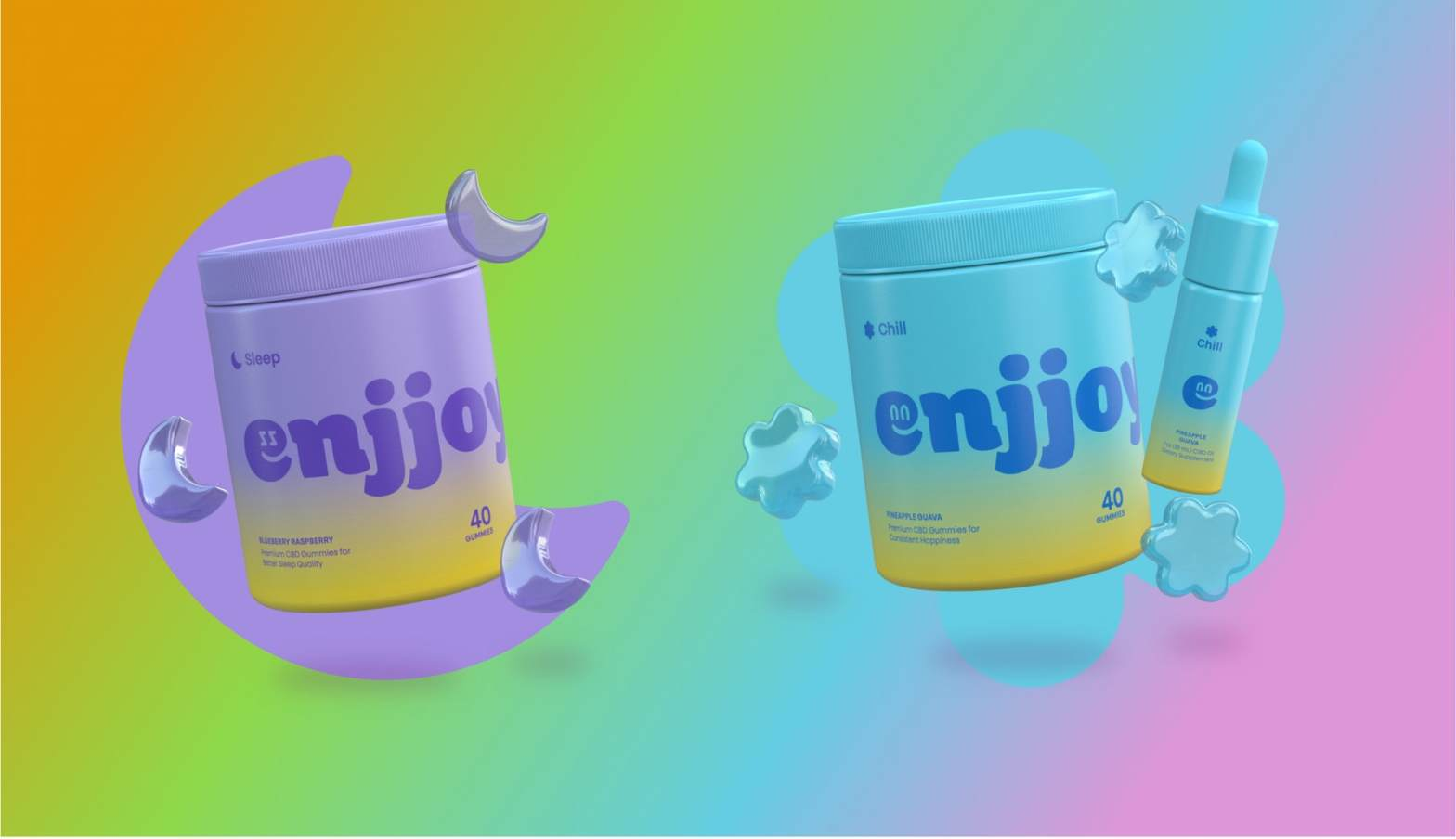 Thumbnail for The Branding For CBD Company Enjjoy Gives Sugar High a Whole New Meaning