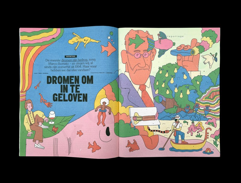 Thumbnail for Philip Lindeman's Dreamy Illustrations For Volkskrant Magazine