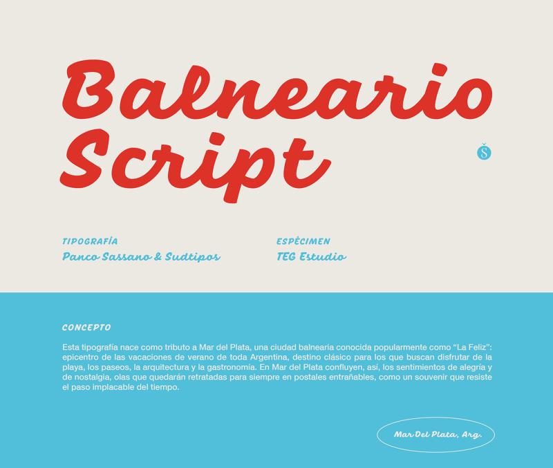 Thumbnail for Typeface Balneario Script is Both Timeless and Nostalgic