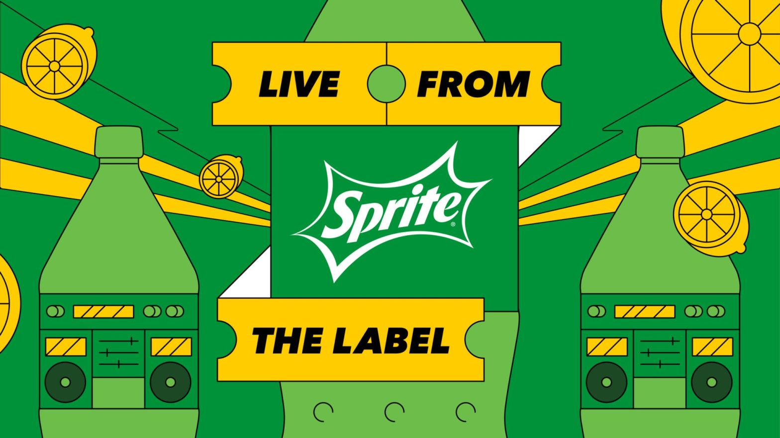 Thumbnail for Sprite's Live Summer Concert Series 'Live from The Label' With Visual Identity By Max Friedman