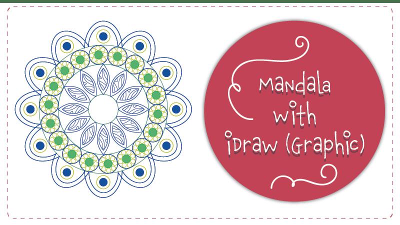 Draw Mandala using iDraw Graphic
