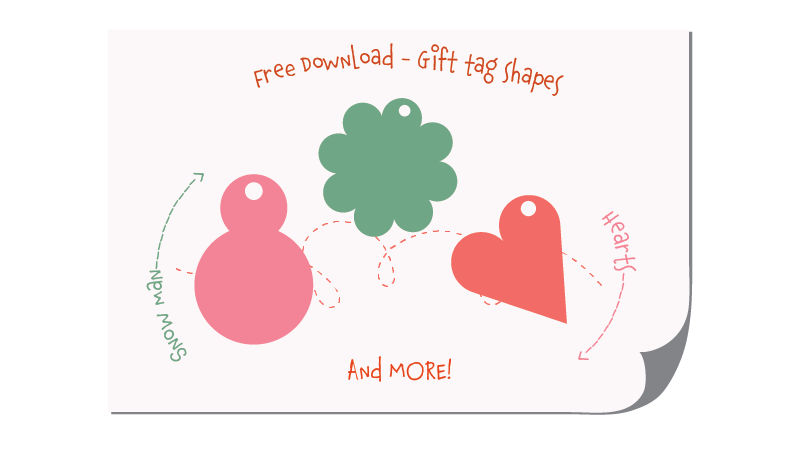 Free download gift tag shapes