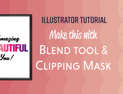 Illustrator Blend tool clipping mask