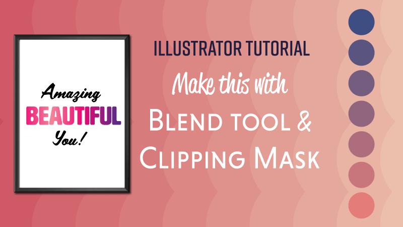 Illustrator Blend tool clipping mask
