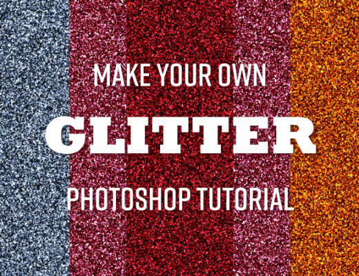 glitter with photoshop