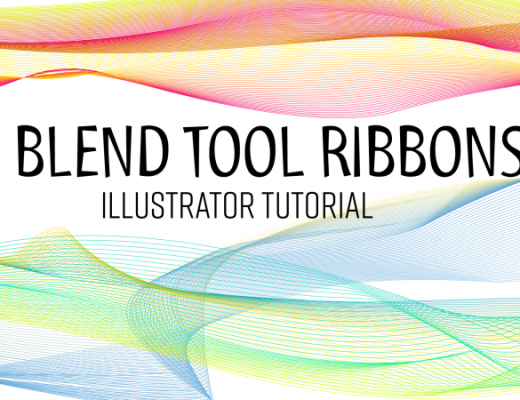 Blend tool - ribbon effect