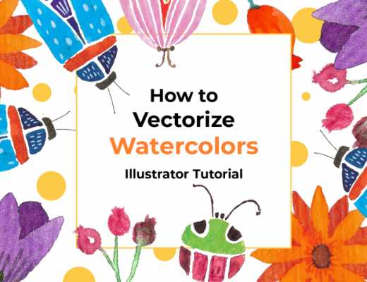 Vectorize watercolor in Illustrator