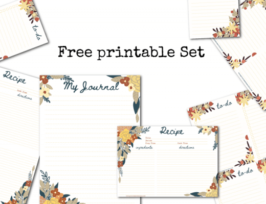 quarantine covid19 free download printable recipe card, journal page, to do list