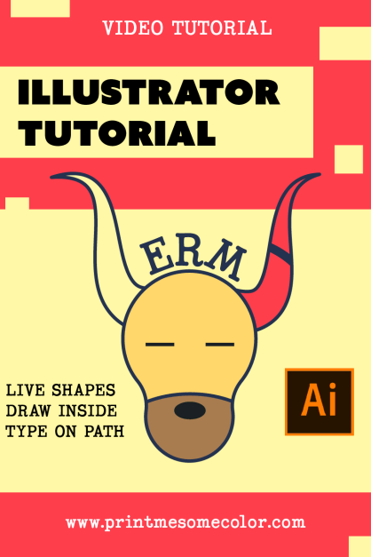 Live Shapes Draw Inside Type On Path Illustrator Tutorial Print Me Some Color