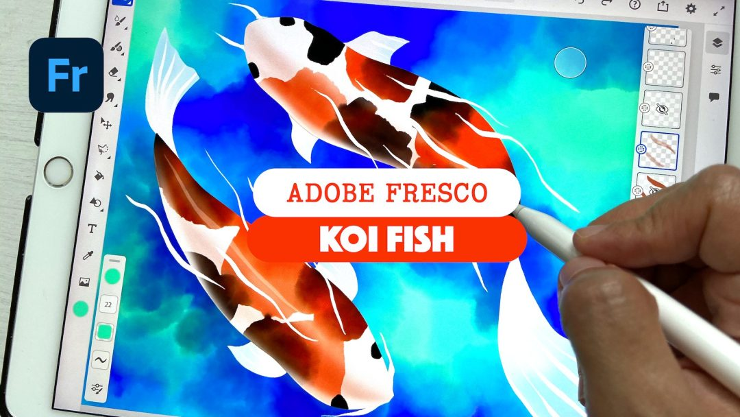 Koi fish in Adobe fresco