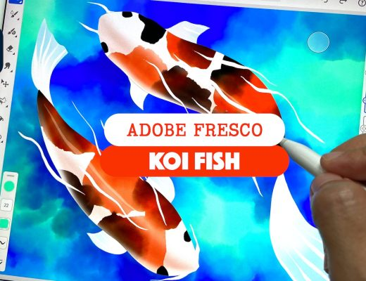 Koi fish in Adobe fresco