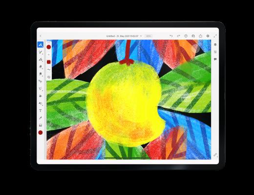 Texture in Adobe fresco Beginner Adobe Fresco | Textured Mango Illustration
