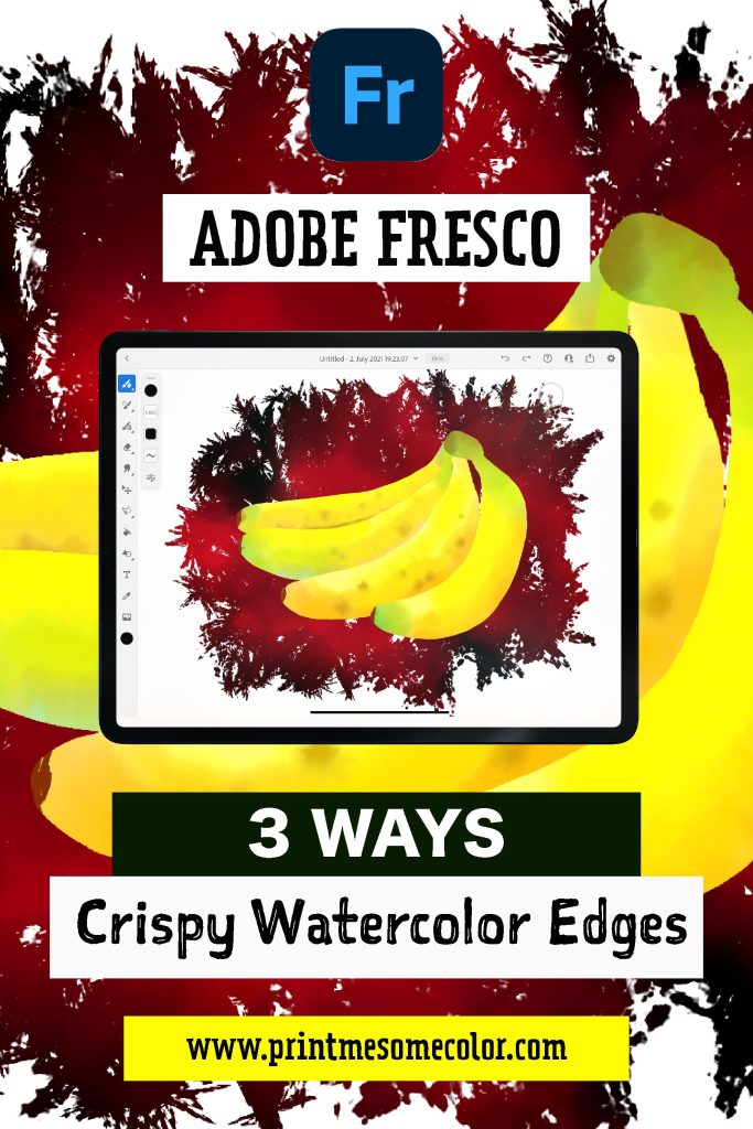 crispy edges with watercolor brushes in Adobe Fresco