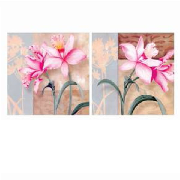 Pink Amaryllis canvas wall art, canvas wall decor (16*16 -2 Panels) PMS2AP-00009560 2