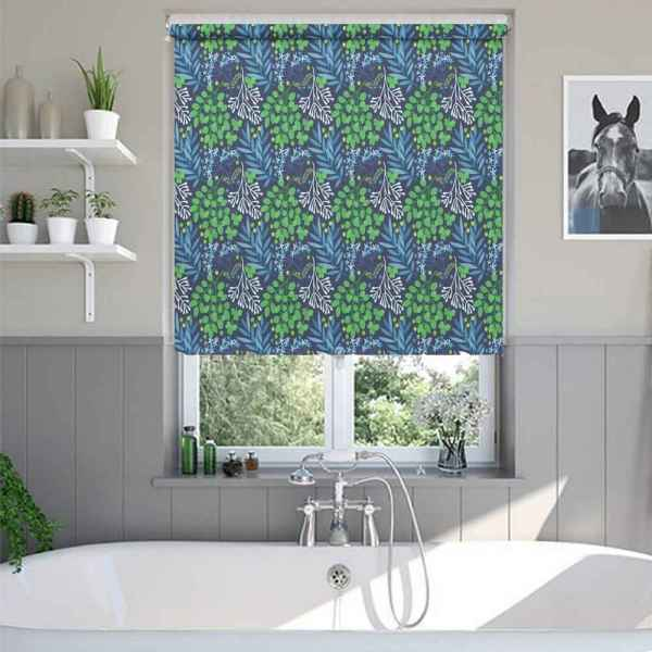 Abstract Leaf Window Blinds
