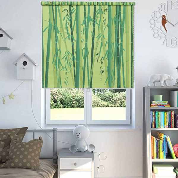 Bamboo Leaf Nature Window Blinds