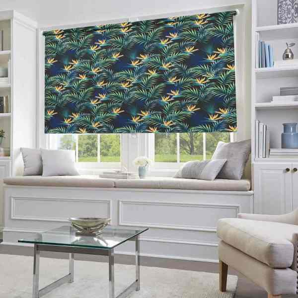 Palm Leaf Nature Window Blinds