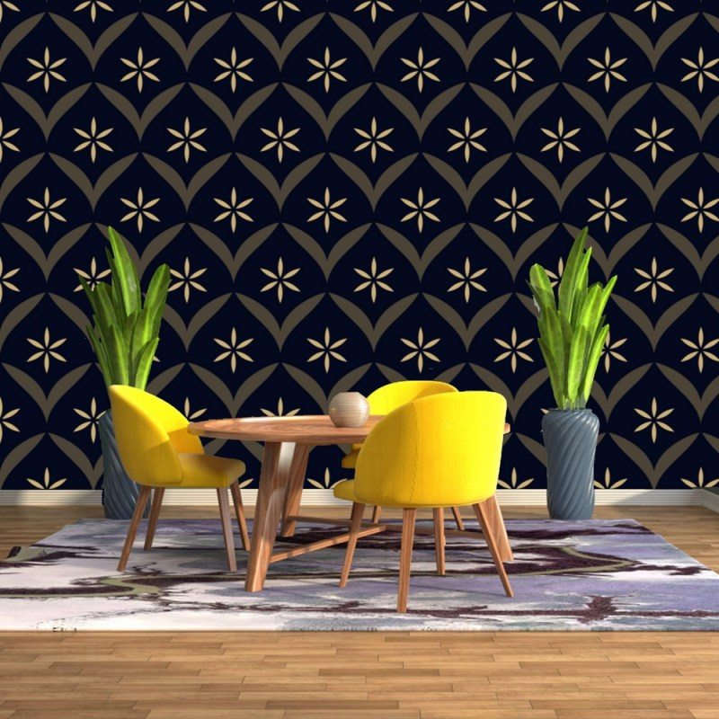 Intricate Floral Peel And Stick Wallpaper 2